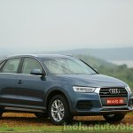 Audi Q3 facelift front three quarters India Review