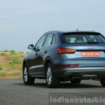 Audi Q3 facelift rear three quarter India Review