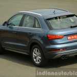 Audi Q3 facelift rear three quarters India Review