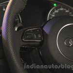 Audi RS6 Avant steering mounted controls India launch
