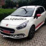 Fiat Abarth Punto Evo front quarter spied