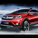 Honda BR-V front view sketch