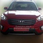 Hyundai Creta Base front spied
