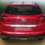 Hyundai Creta SX rear spied