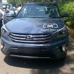 Hyundai Creta front fascia diesel spied