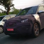 Hyundai Creta front quarter spied New Delhi
