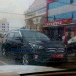 Hyundai Creta front revealed spyshots
