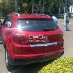 Hyundai Creta rear diesel spied