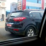 Hyundai Creta rear end revealed spyshots