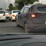 Hyundai Creta rear quarter spied New Delhi