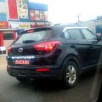 Hyundai Creta rear revealed spyshots
