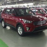 Hyundai Creta red production spec undisguised