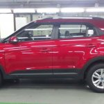 Hyundai Creta side view red production spec for India