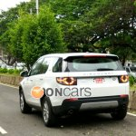 Land Rover Discovery Sport rear India spied