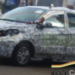 Tata Kite compact sedan front quarter spied