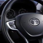 Tata Safari Storme facelift steering wheel