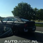 Volvo S90 rear three quarter test prototype spied