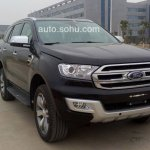 2015 Ford Everest front quarter China spied
