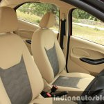 2015 Ford Figo Aspire Titanium 1.5 Diesel front fabric seats first drive review