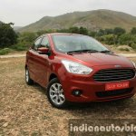 2015 Ford Figo Aspire Titanium 1.5 Diesel front quarter (1) first drive review