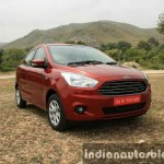 2015 Ford Figo Aspire Titanium 1.5 Diesel front quarter clos first drive review