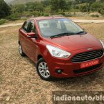 2015 Ford Figo Aspire Titanium 1.5 Diesel front quarter top first drive review