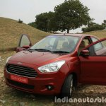 2015 Ford Figo Aspire Titanium 1.5 Diesel front quarter with doors open first drive review
