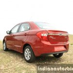 2015 Ford Figo Aspire Titanium 1.5 Diesel rear quarter first drive review