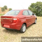 2015 Ford Figo Aspire Titanium 1.5 Diesel rear quarter top first drive review