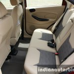 2015 Ford Figo Aspire Titanium 1.5 Diesel rear seat with armrest up first drive review