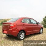 2015 Ford Figo Aspire Titanium 1.5 Diesel rear three quarter first drive review