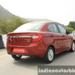 2015 Ford Figo Aspire Titanium 1.5 Diesel rear three quarter tracking first drive review