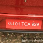 2015 Ford Figo Aspire Titanium 1.5 Diesel registration plate area first drive review