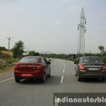 2015 Ford Figo Aspire Titanium 1.5 Diesel with Maruti Swift Dzire rear first drive review