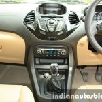 2015 Ford Figo Aspire Titanium Plus 1.2 Petrol center console first drive review
