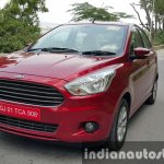 2015 Ford Figo Aspire Titanium Plus Petrol front quarter first drive review