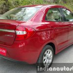 2015 Ford Figo Aspire Titanium Plus Petrol rear three quarter first drive review