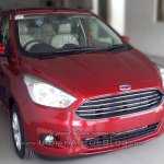 2015 Ford Figo Aspire front quarter spotted in dealership for first time