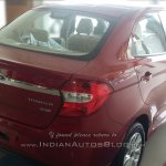 2015 Ford Figo Aspire rear quarter spotted in dealership for first time