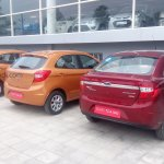 2015 Ford Figo hatchback rear India spied