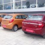 2015 Ford Figo hatchback rear India spied