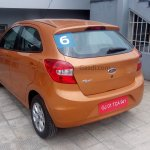 2015 Ford Figo hatchback rear quarter India spied