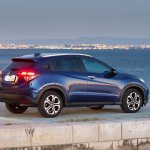 2015 Honda HR-V rear three quarter features, variants and prices released in United Kingdom