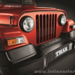 2015 Mahindra Thar facelift grille press shots