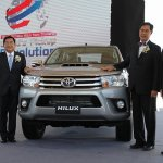 2015 Toyota Hilux exports ceremony press image