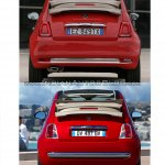 2016 Fiat 500 (facelift) vs 2007 Fiat 500 cabrio rear Old vs New