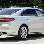 2016 Ford Taurus rear three quarter spotted in the flesh post unveil