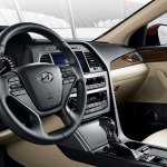 2016 Hyundai Sonata front cabin interior press images