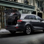 2016 Kia Sorento rear quarter with boot opened launched in South Africa