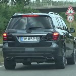 2016 Mercedes GLS rear spyshot from Stuttgart Germany